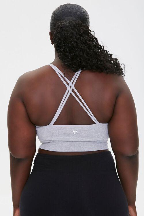 HEATHER GREY Plus Size Heathered Sports Bra, image 3