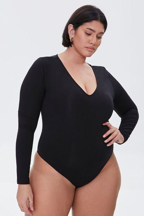 Plus Size Long-Sleeve Bodysuit, image 5