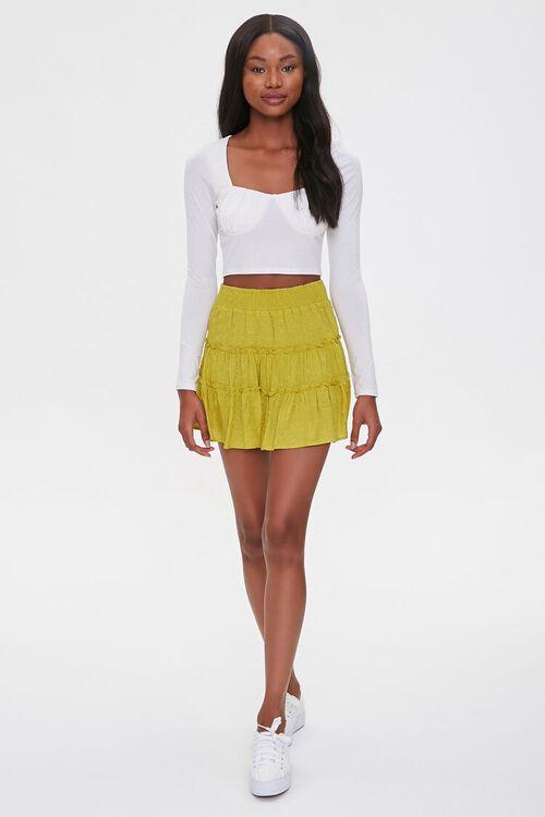 Tiered Clip Dot Mini Skirt, image 5