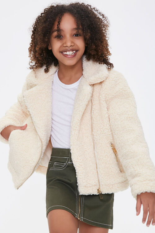 Girls Faux Shearling Jacket (Kids), image 1
