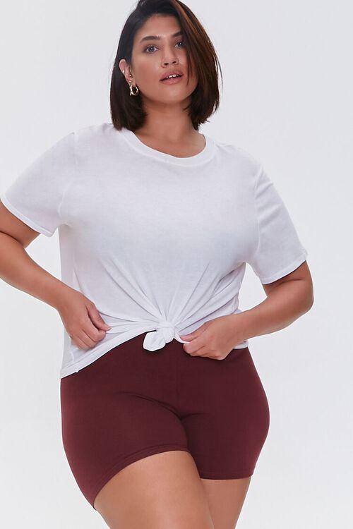 Plus Size Basic Organically Grown Cotton Hot Shorts, image 1