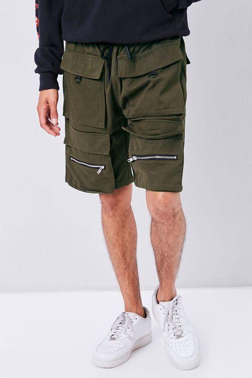 Drawstring Dual Cargo Shorts, image 2