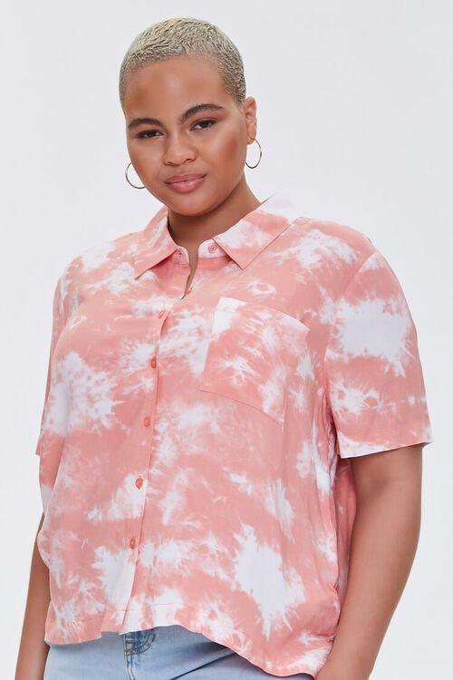 Plus Size Bleached Pocket Shirt, image 1
