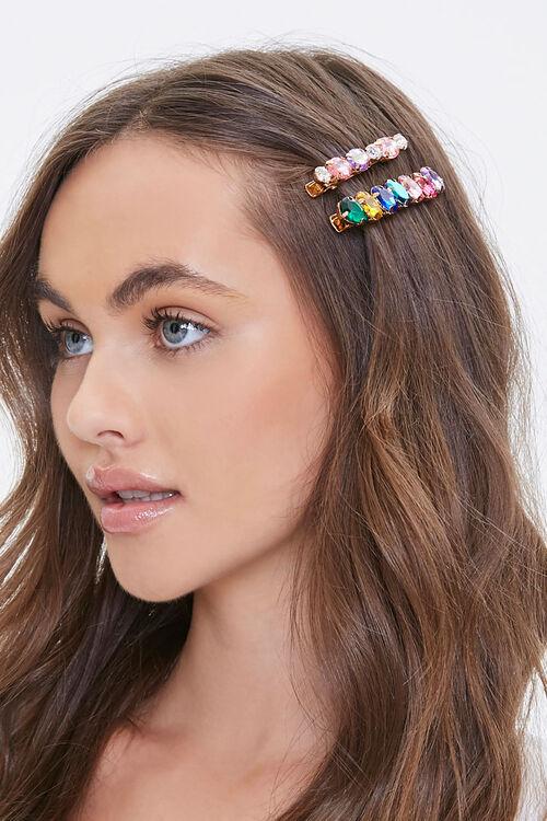Faux Gem Hair Clip Set, image 1