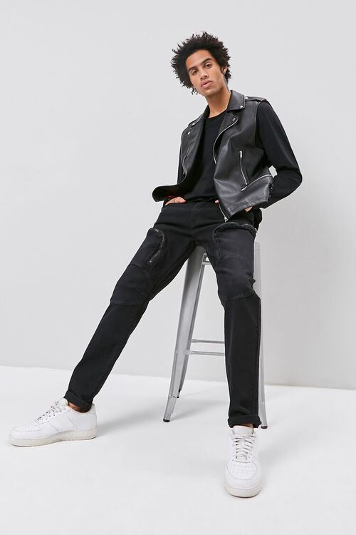 Zip-Pocket Skinny Jeans, image 1