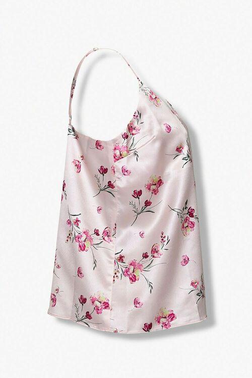PINK/MULTI Satin Floral Cami, image 2