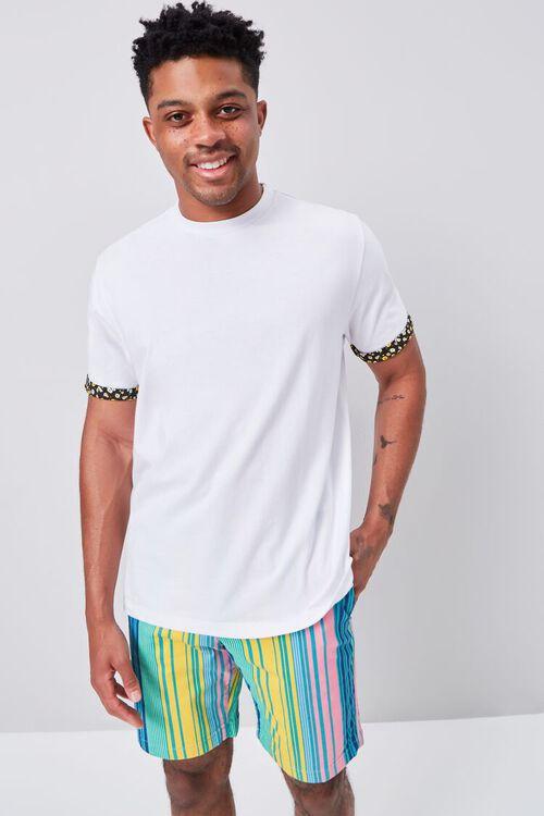 Multicolor Vertical Striped Shorts, image 1