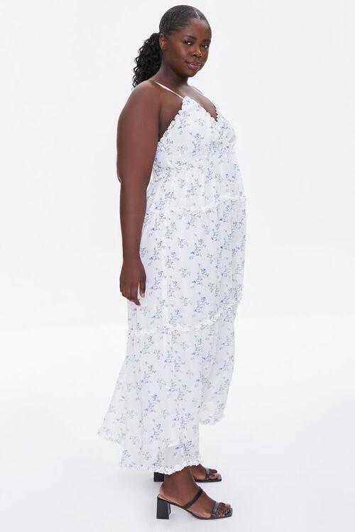 Plus Size Floral Print Chiffon Dress, image 2