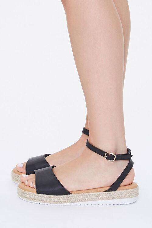 Faux Leather Espadrille Sandals, image 2