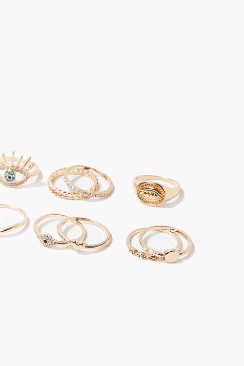 Eye Charm Variety Ring Set, image 2