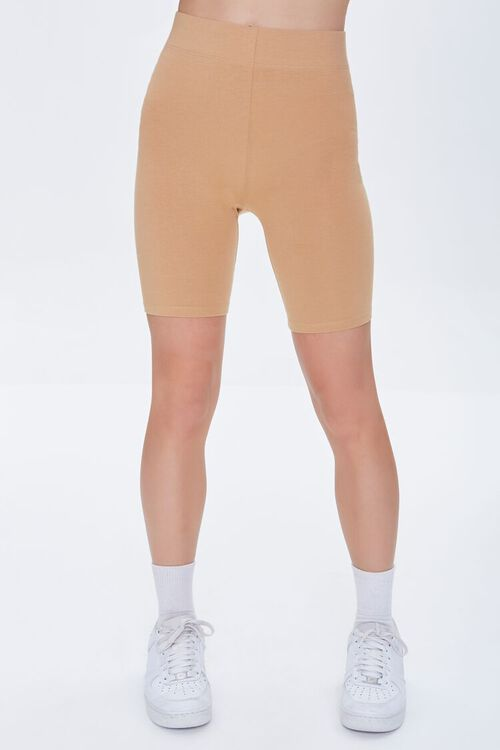 CAMEL Basic Organically Grown Cotton Biker Shorts, image 2