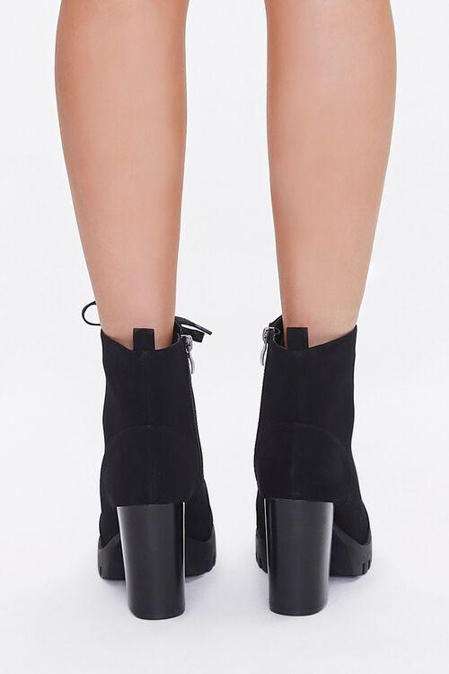 Faux Nubuck Block Heel Booties, image 3