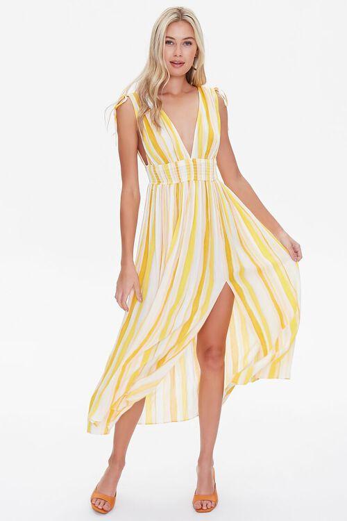 Crinkled Striped M-Slit Dress, image 4