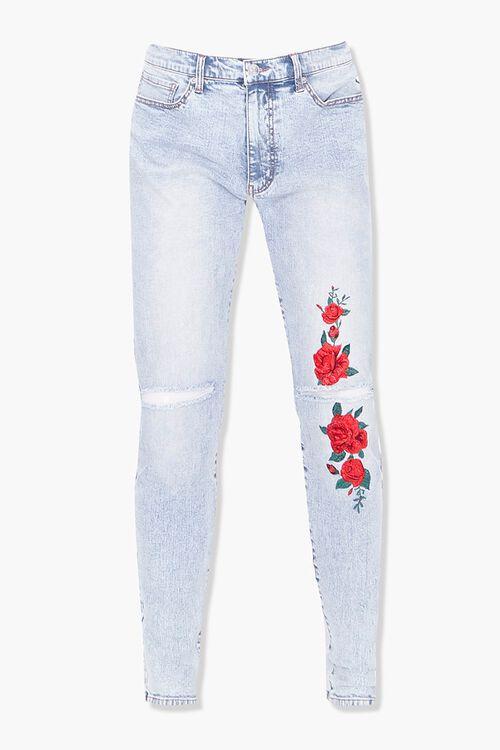 Floral Print Skinny Jeans, image 1