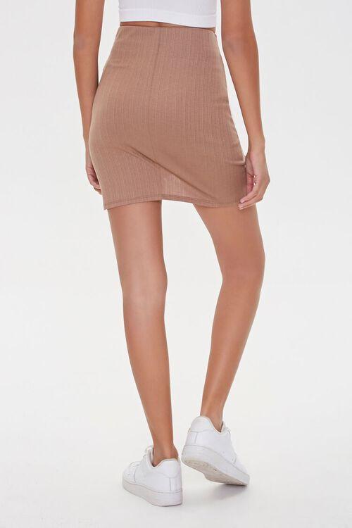 TAUPE Ruched Tulip-Hem Mini Skirt, image 4