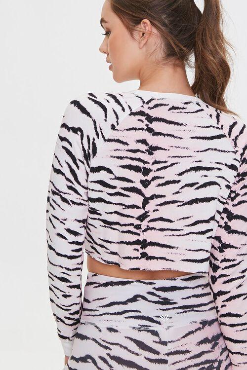 PINK/MULTI Active Tiger Print Crop Top, image 3