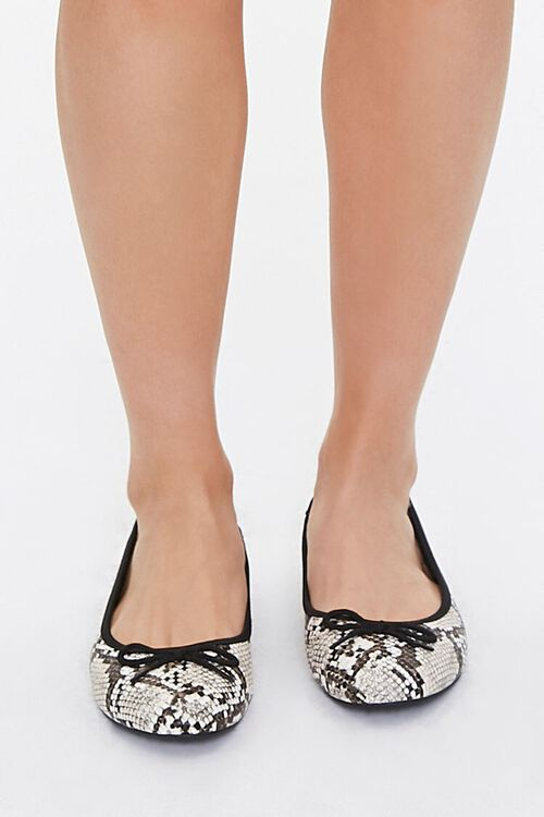 Faux Snakeskin Flats, image 4