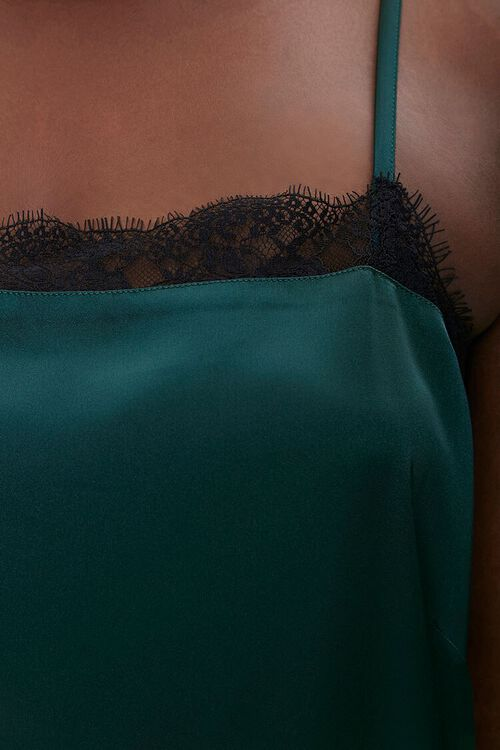 Plus Size Satin Lace-Trim Cami, image 5