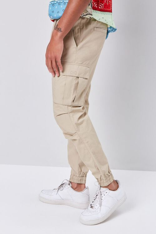 Smocked Drawstring Cargo Pants, image 3