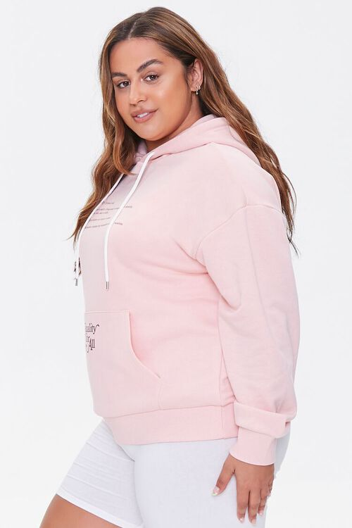 PINK/BROWN Plus Size Equality For All Hoodie, image 2