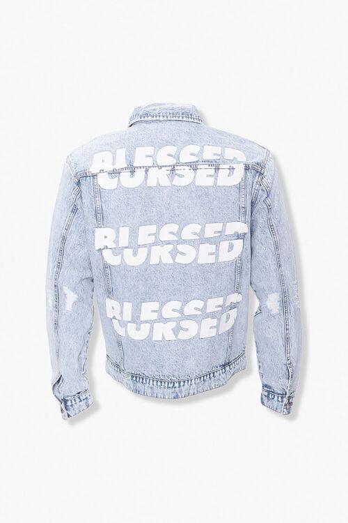 Blessed Cursed Graphic Denim Jacket, image 3
