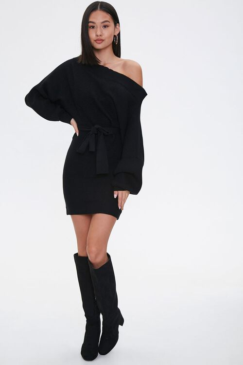 Off-the-Shoulder Sweater Dress, image 4