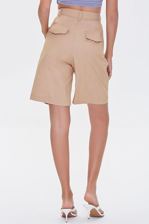 SAND High-Rise Straight-Leg Shorts, image 4
