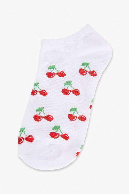 Cherry Print Ankle Socks, image 2