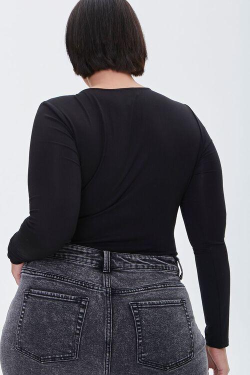 Plus Size Long-Sleeve Bodysuit, image 3
