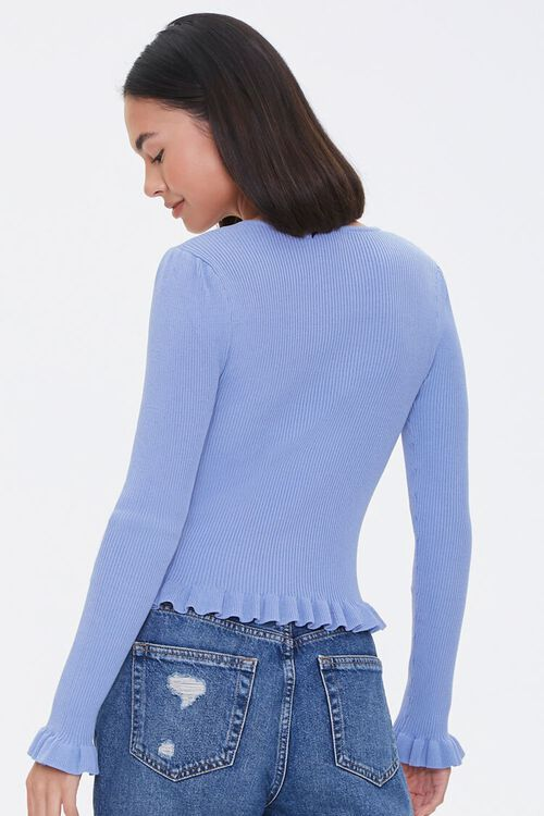 Faux Pearl Sweater-Knit Top, image 3
