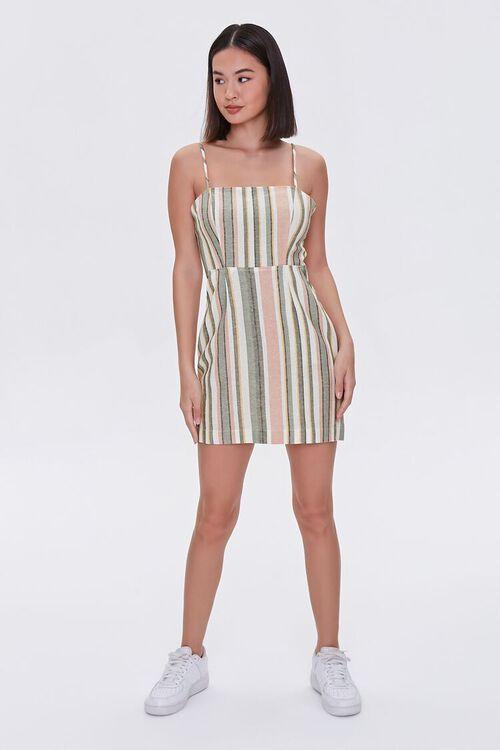 Striped Mini Cami Dress, image 4