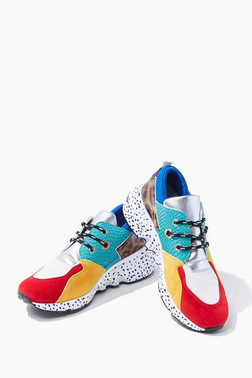 Colorblock Speckled Sneakers, image 3