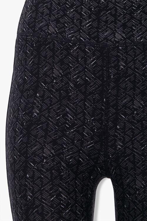 BLACK/CHARCOAL Marled Knit Geo Leggings, image 4