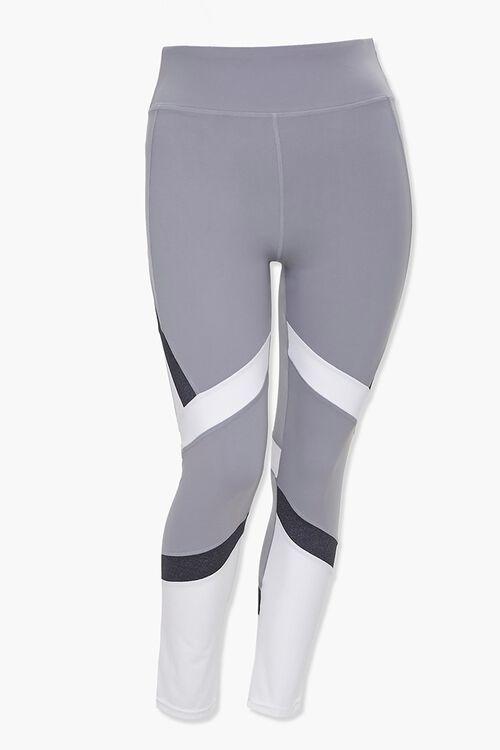 Plus Size Active Colorblock Leggings, image 1