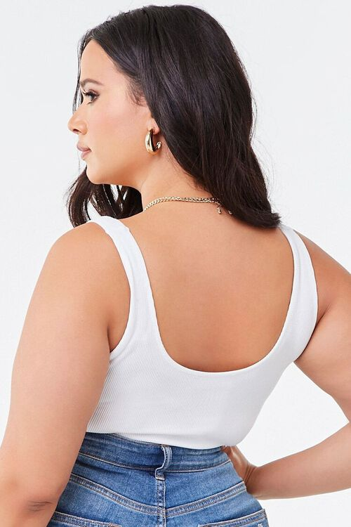 Plus Size Seamless Ribbed Bodysuit, image 3