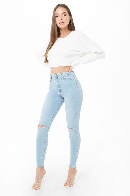 LIGHT DENIM Sculpted High-Rise Skinny Jeans, image 4
