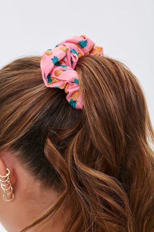 Pineapple Print Hair Scrunchie, image 2