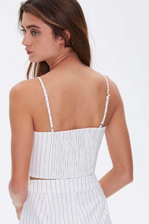 WHITE/BLACK Pinstriped Cropped Cami, image 3