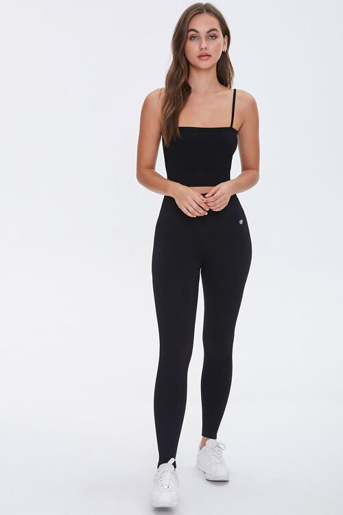 Active Seamless Ribbed High-Rise Leggings, image 5