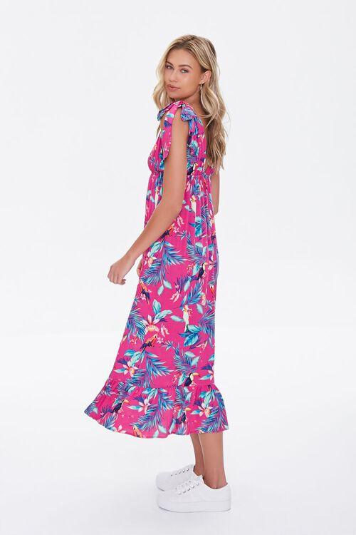 MAGENTA/MULTI Tropical Print Midi Dress, image 3