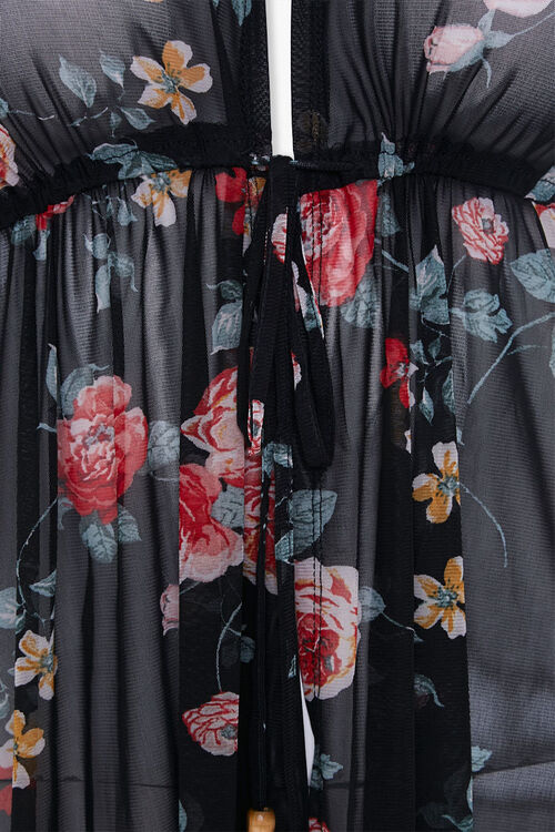 Plus Size Floral Duster Jacket, image 3