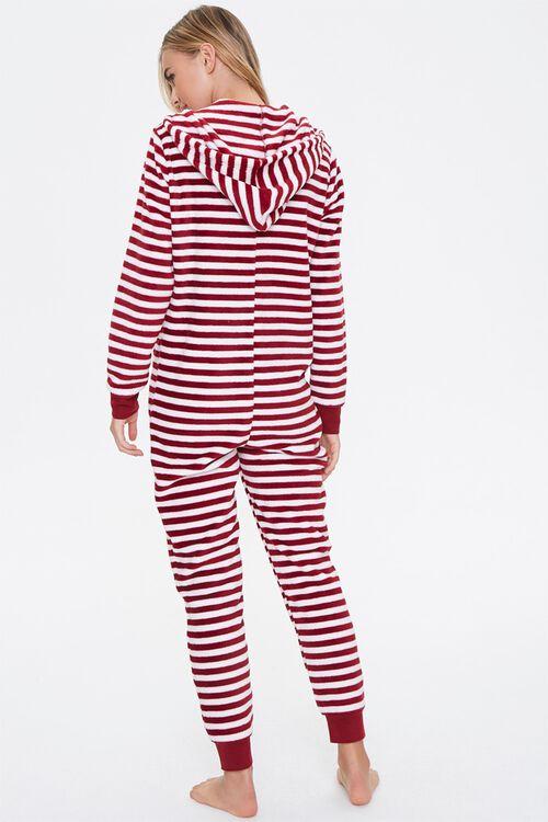 Striped Hooded Pajama Jumpsuit, image 3