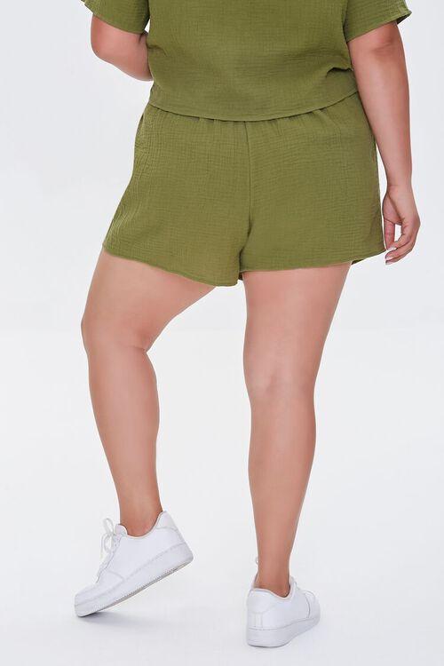 Plus Size Textured Shorts, image 4