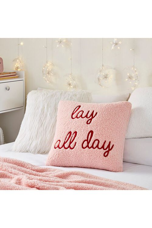 BLUSH/MULTI Embroidered Lay All Day Pillow, image 1