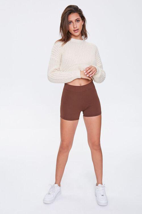 Basic Cotton-Blend Biker Shorts, image 5