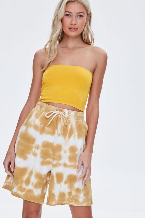 Bleached Drawstring Shorts, image 1
