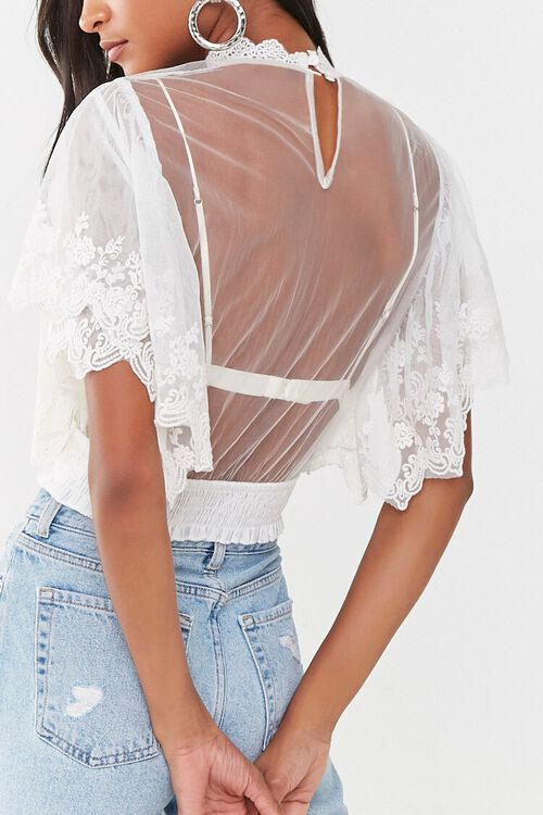 Sheer Embroidered Top, image 3