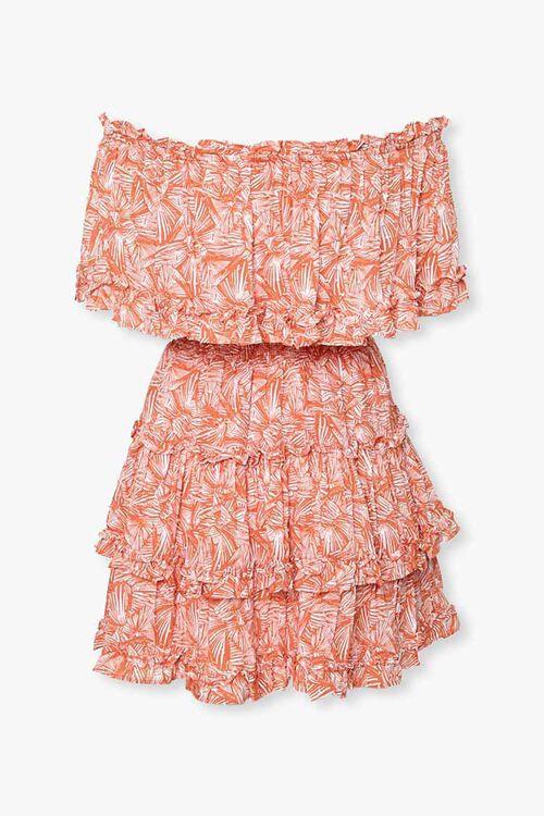Off-the-Shoulder Geo Print Dress, image 2