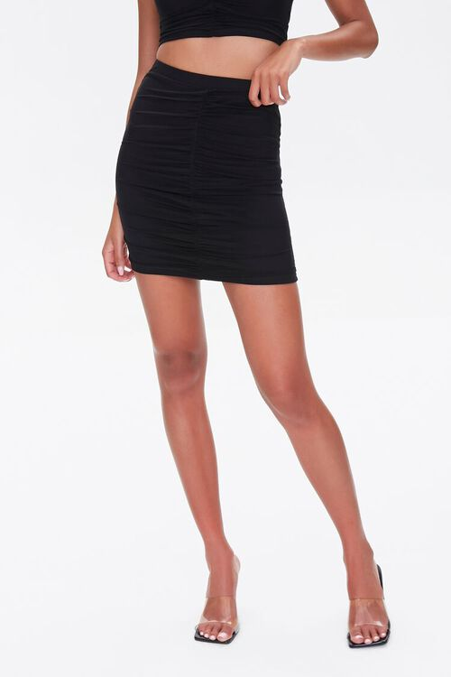 Ruched Mini Skirt, image 2