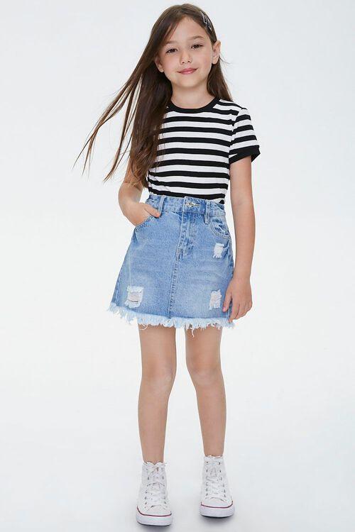 Girls Frayed Denim Skirt (Kids), image 5